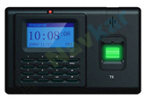 Fingerprint and RFID Based Time Attendance System Model T6